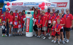 Colgate robot at event